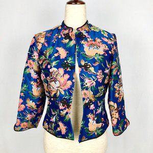 Zara Trafaluc Outerwear Floral Asian Inspired Coat
